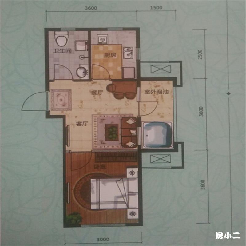 47㎡1室2厅1卫