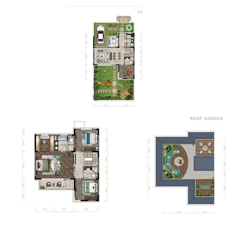 首创·禧瑞长河4室2厅4卫建筑面积约为143㎡