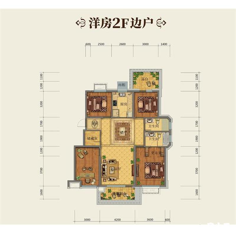 134平4室2厅2卫