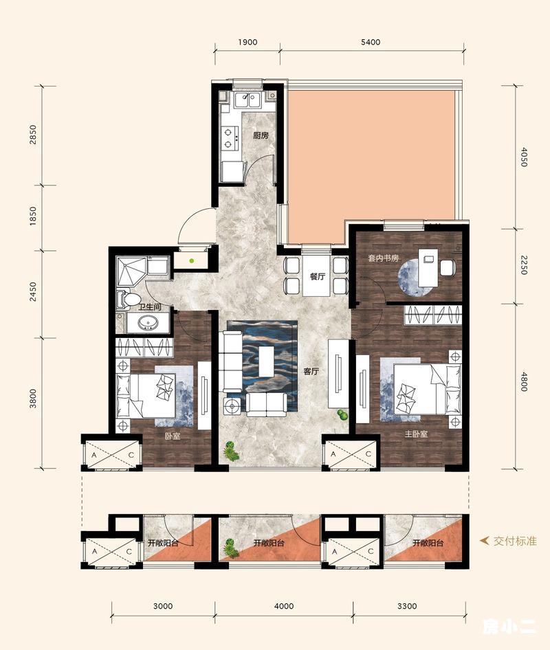 81㎡3室2厅1卫