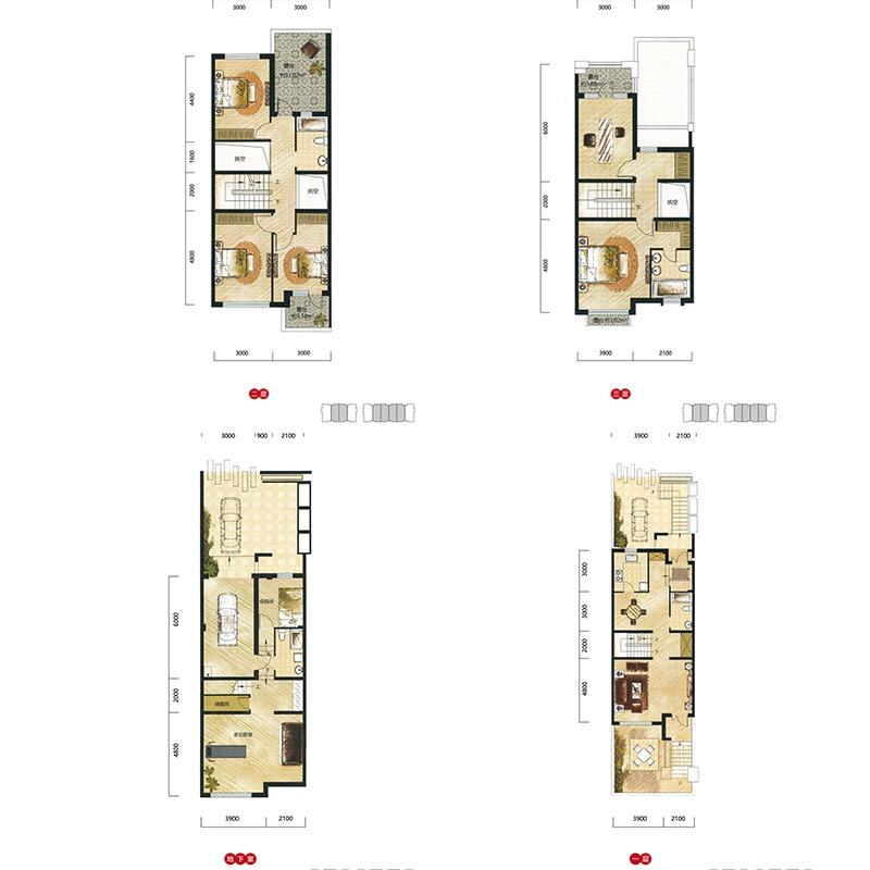 宏发天琴湾5室3厅4卫建筑面积约为192㎡