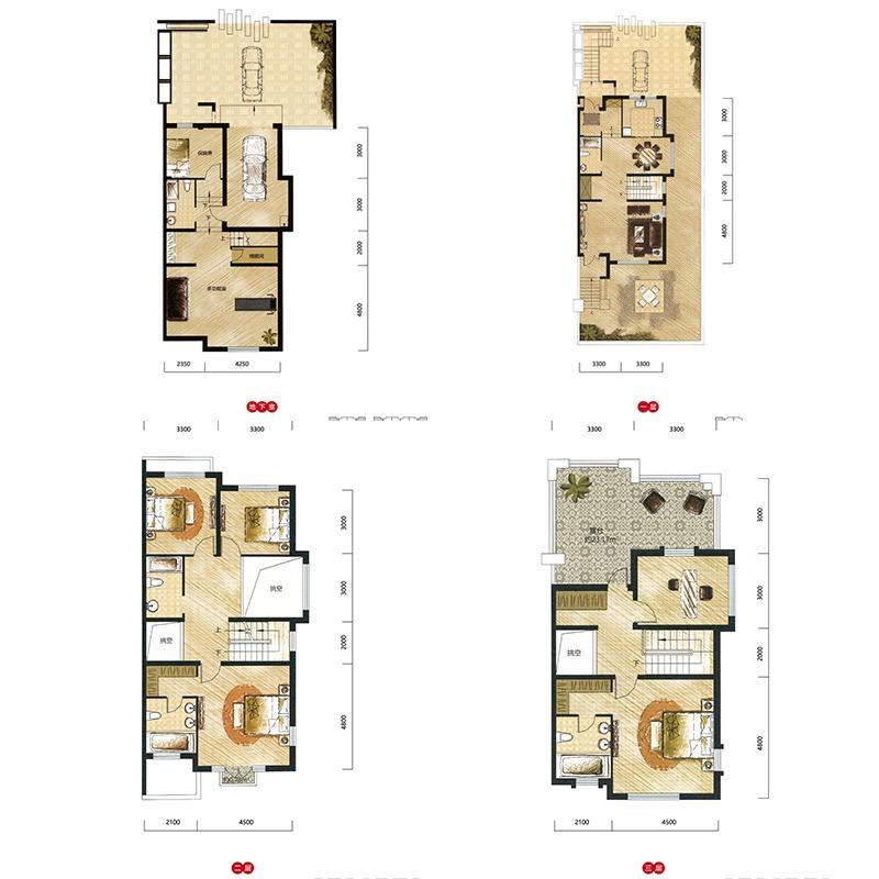 宏发天琴湾5室3厅5卫建筑面积约为226㎡