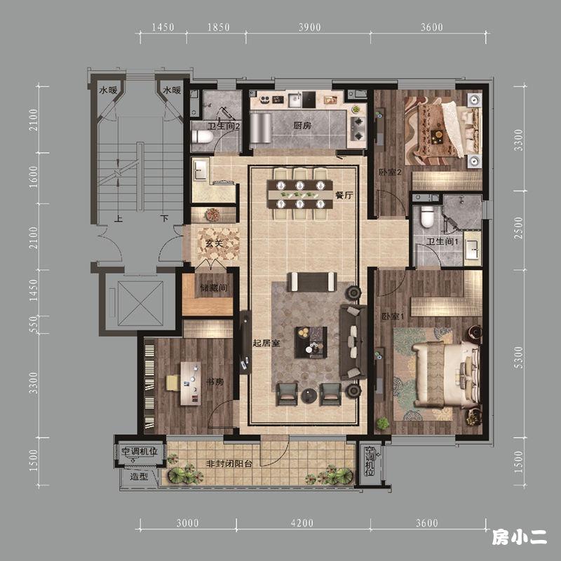 131㎡3室2厅2卫