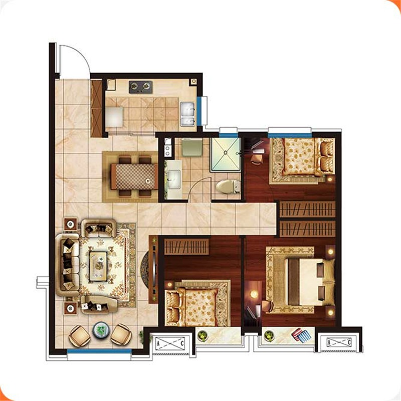 101㎡3室2厅1卫