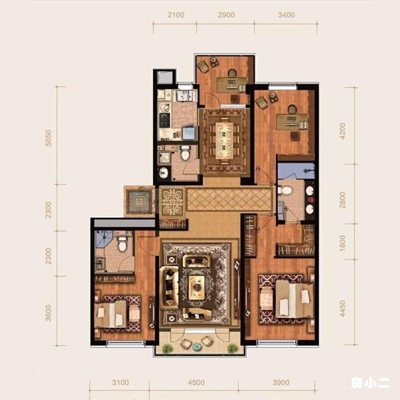 169㎡4室2厅3卫