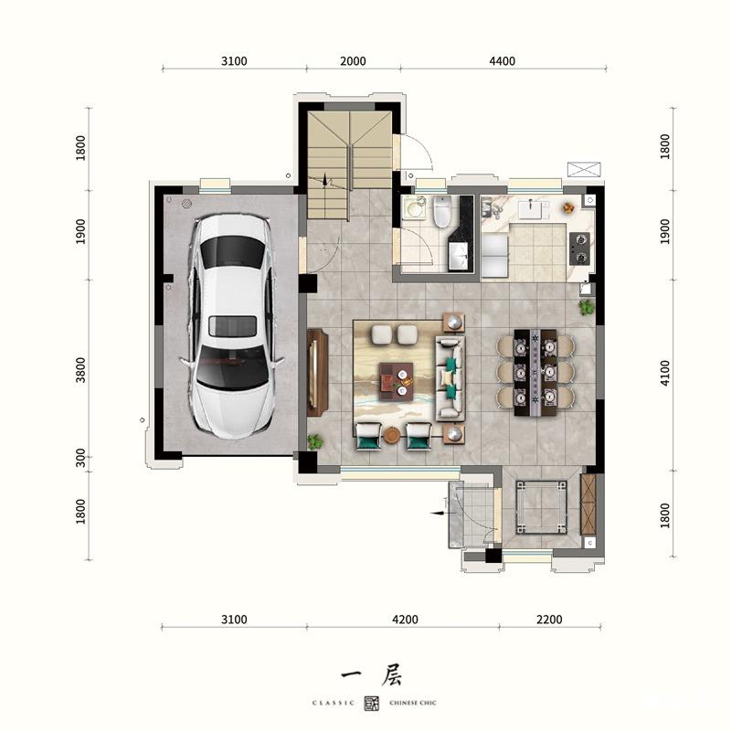 一层约9.5米南向宽阔格局,独立入户玄关,彰显归家礼序;全明U型厨房,烹饪时光游刃有余;多功能休闲区,空间随心规划。二层南向套房,格局方正通透;明卫设计,明亮通透干湿分离;三层整层主卧套,尽享静谧时光;双利泰设计,俯仰之间皆美景。