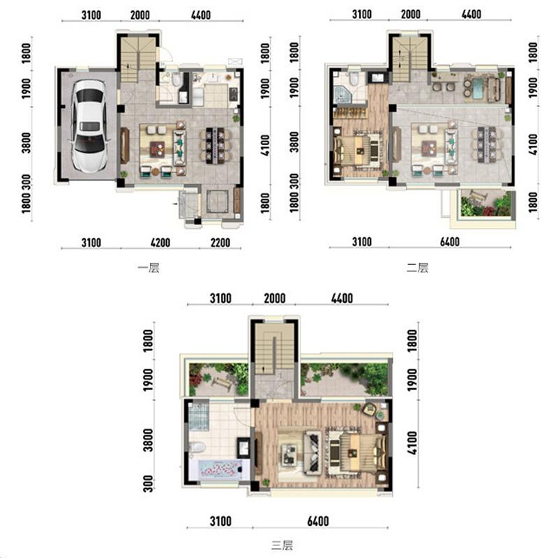 世茂国风盛京2室4厅3卫建筑面积约为160㎡