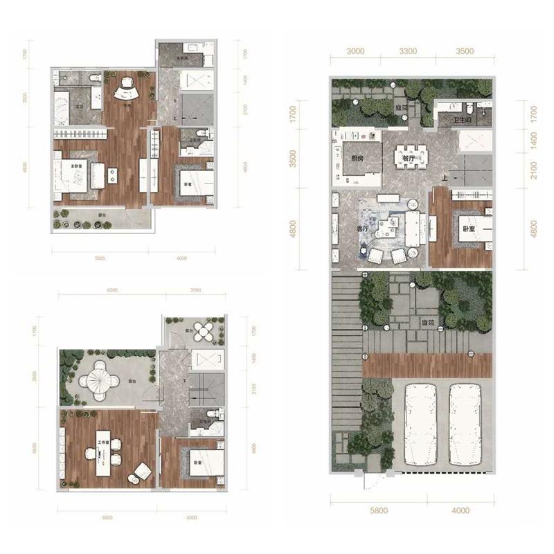 汇置山湖6室2厅4卫建筑面积约为150㎡
