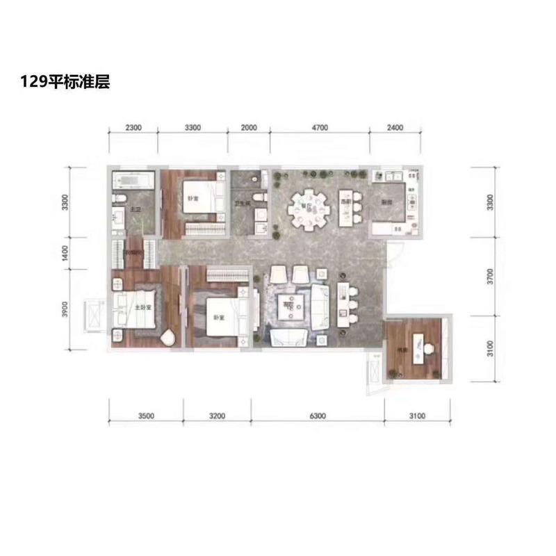 129㎡4室2厅2卫