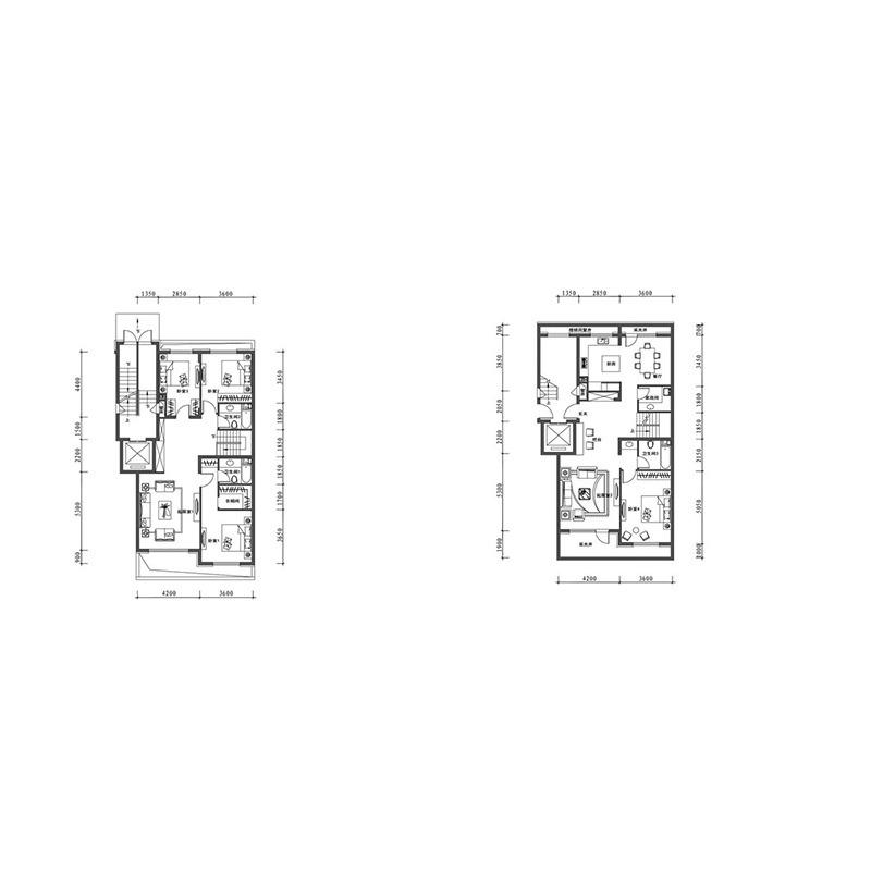 万科翡翠别墅·有山4室2厅3卫建筑面积约为230㎡