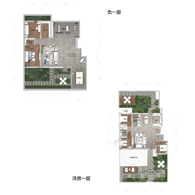 洋房首层109平3室2厅2卫