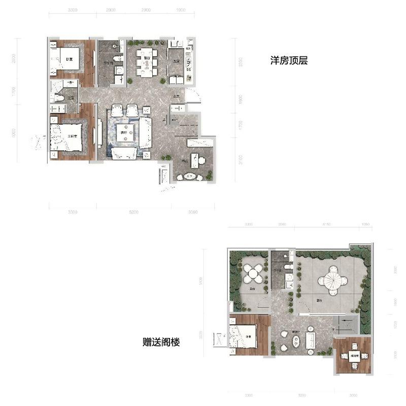 洋房顶层135平3室2厅2卫