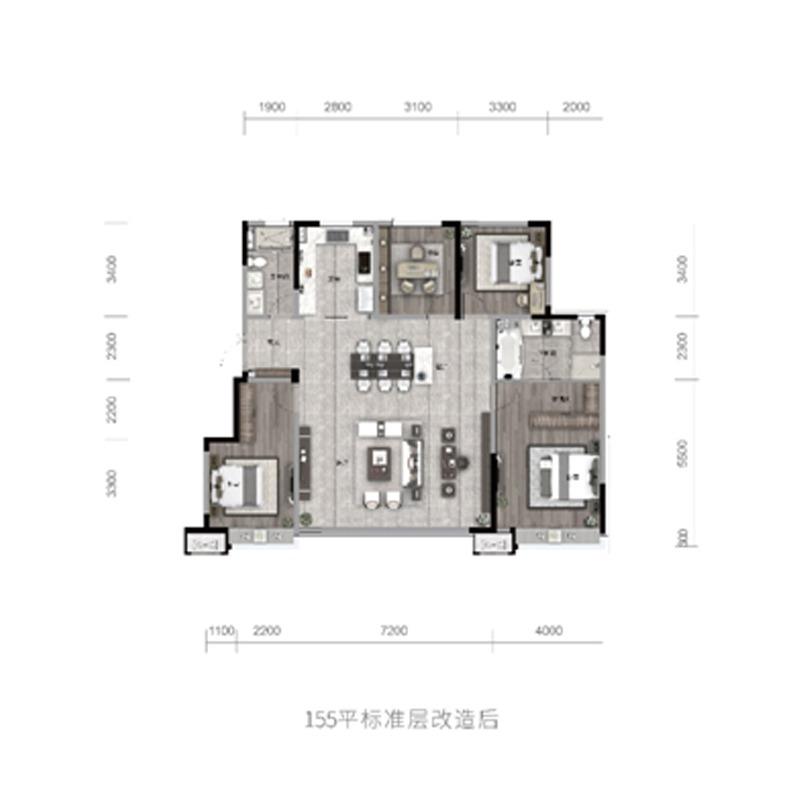 155㎡4室2厅2卫