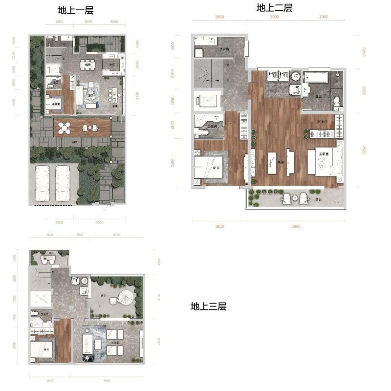 汇置山湖5室3厅5卫建筑面积约为185㎡