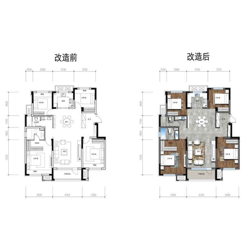 137㎡4室2厅2卫