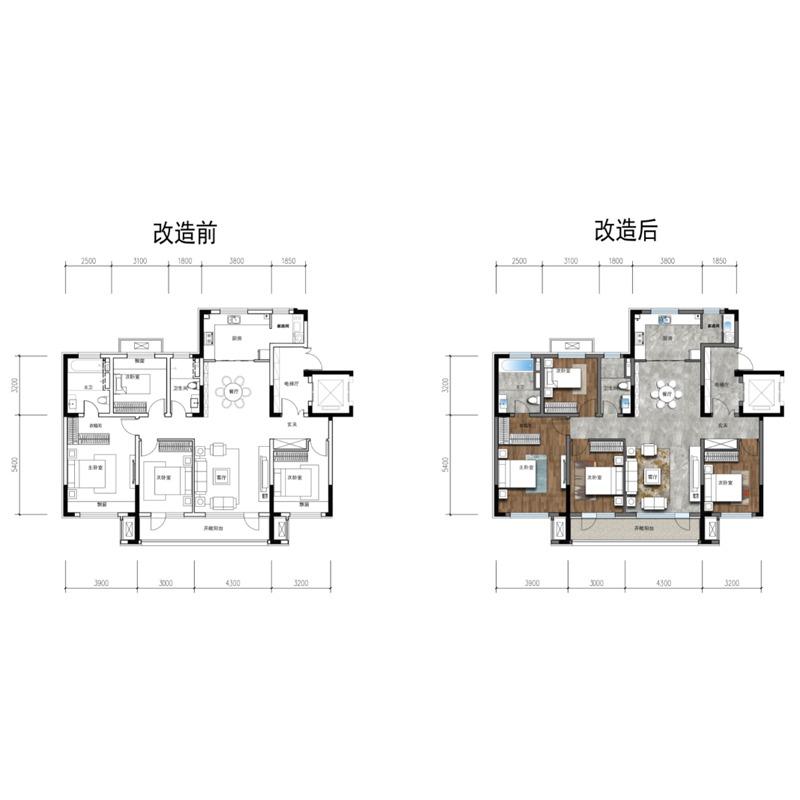 151㎡4室2厅2卫
