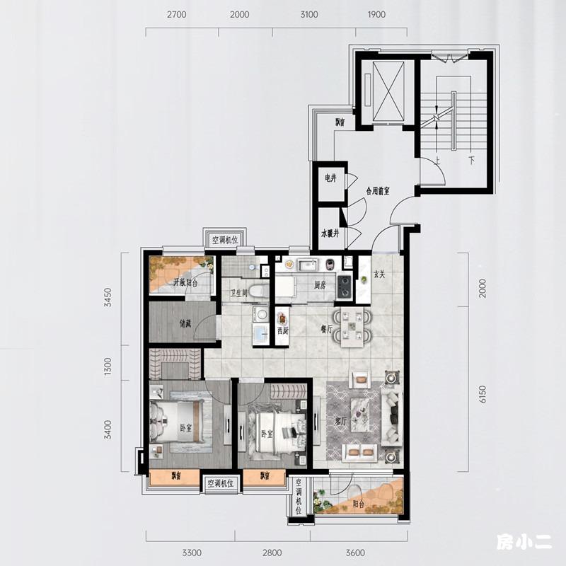 108㎡3室2厅1卫