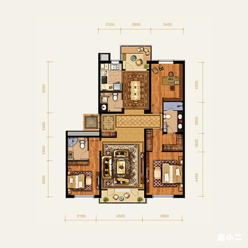 180㎡3室2厅3卫