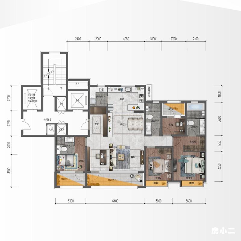 170㎡4室2厅3卫