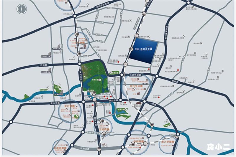万科首府未来城项目区位图
