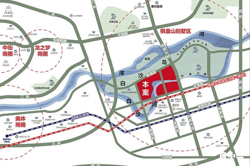 白沙岛金融生态小镇区位图