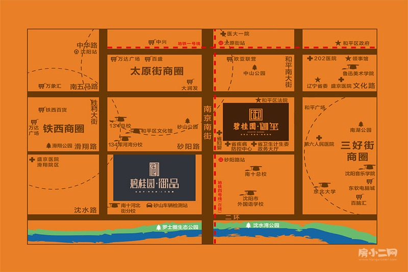 碧桂园御品项目区位图