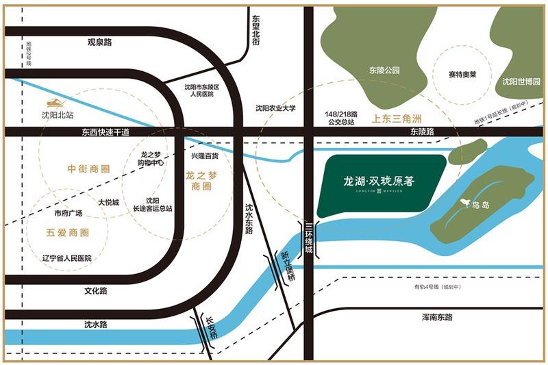 龙湖•双珑原著项目区位图