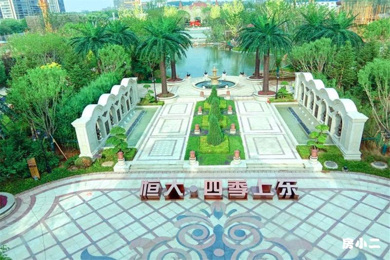 沈阳恒大四季上东园区主景观实景图
