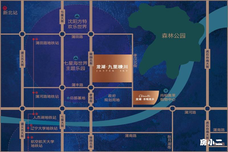 龙湖·九里晴川项目区位