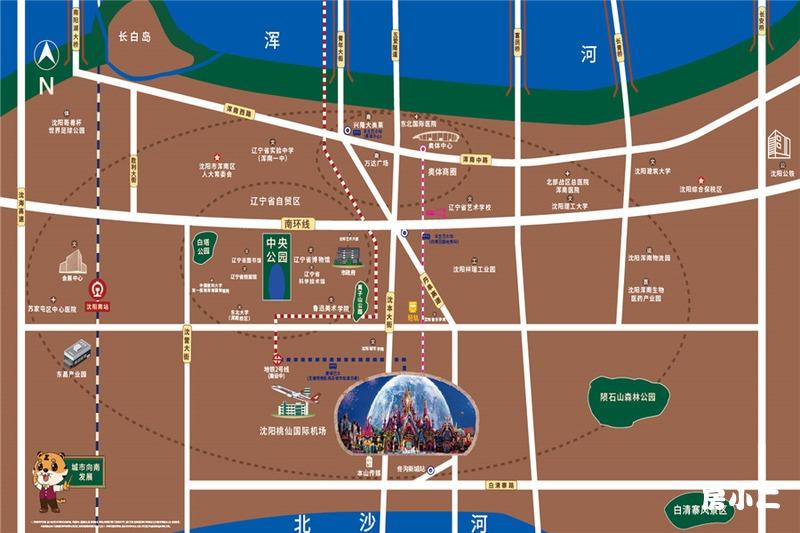 沈阳恒大文化旅游城项目区位图