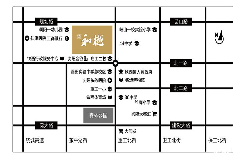 中南旭辉·和樾区位图