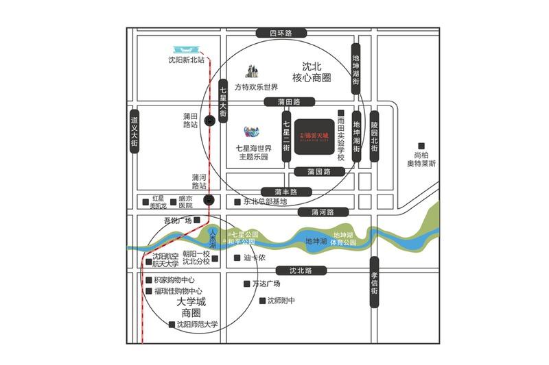 中粮·锦云天城项目区位图