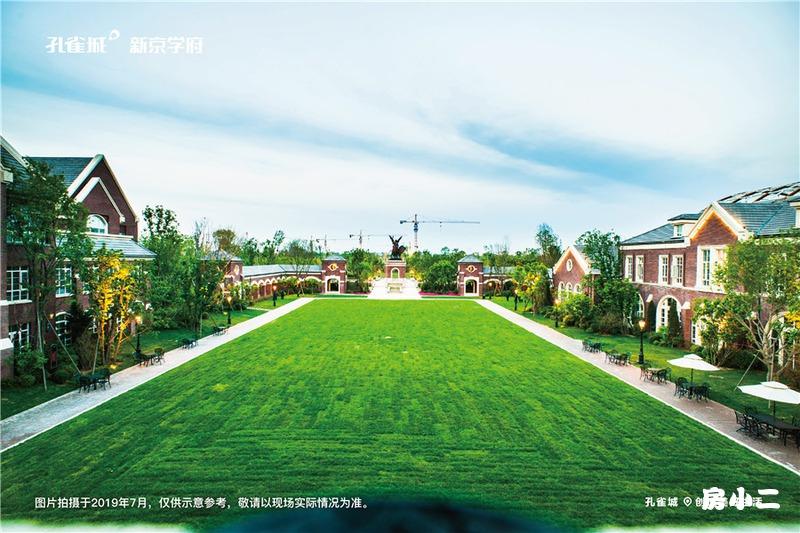 孔雀城·新京学府园区草坪效果图