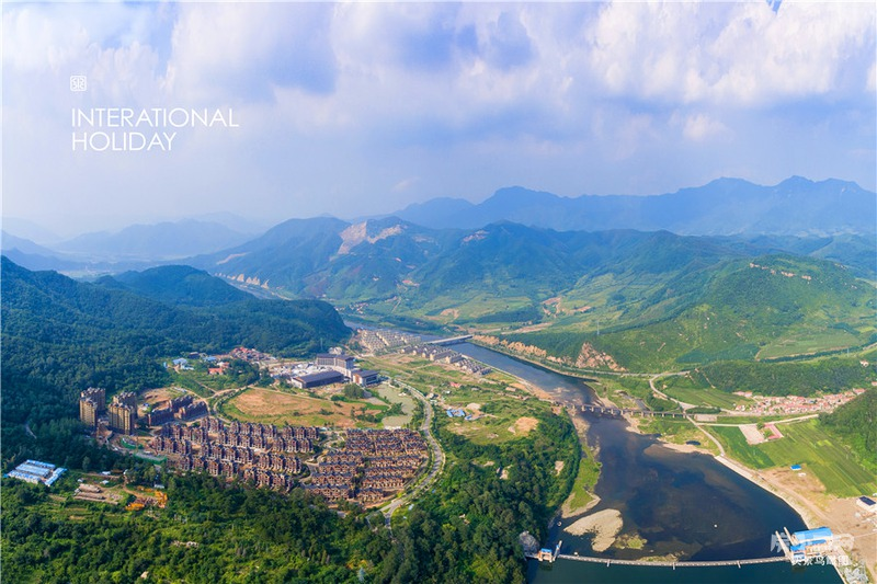 天著国际度假胜地实景鸟瞰图