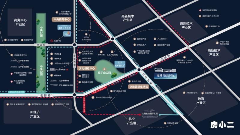 龙湖·听蓝时光区位图