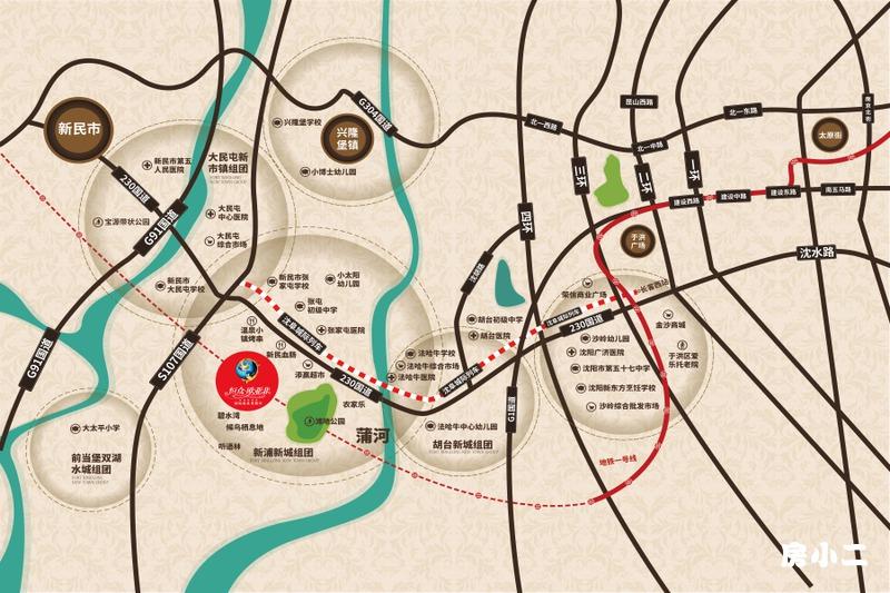 恒众欧亚菲国际温泉小镇区位图