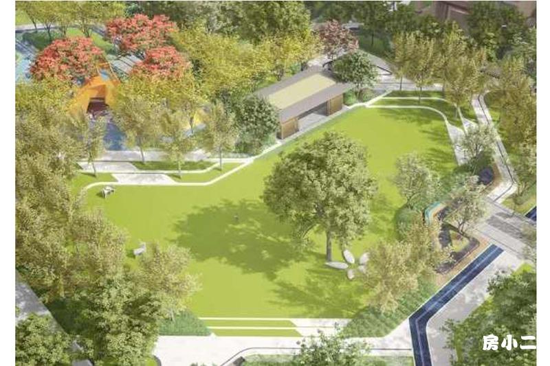 首开·国风尚城园区景观效果图