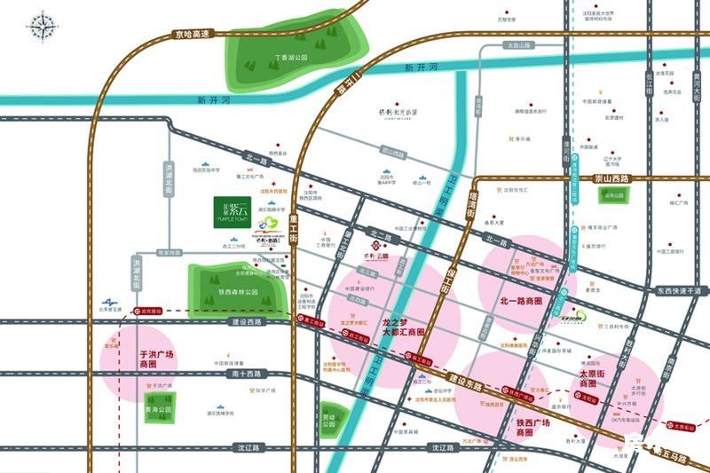 保利紫云项目区域效果图