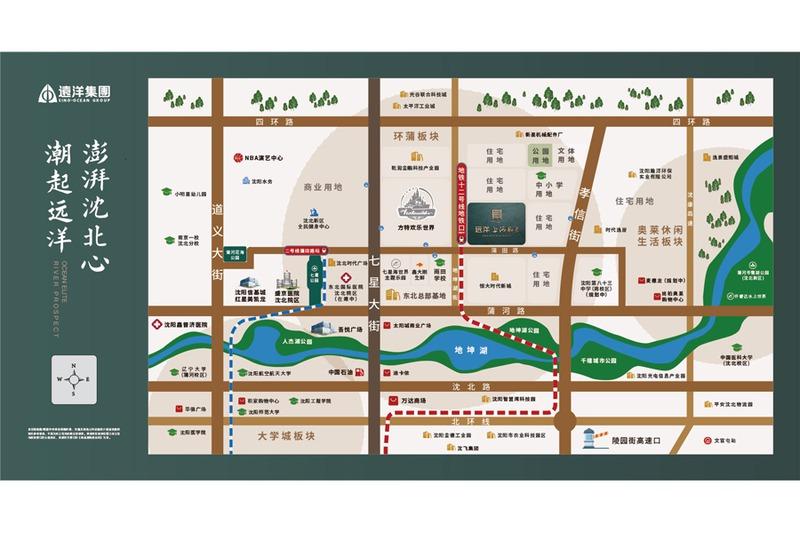 远洋上河风景项目区位图