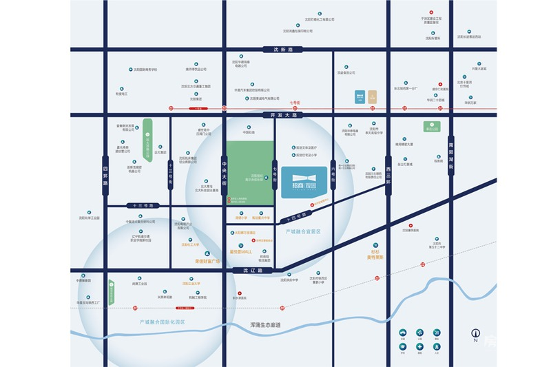 招商观园项目区位图