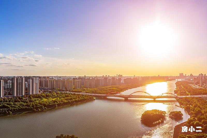 盛京雅府鸟瞰河景图