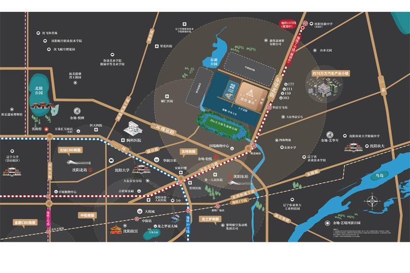 金地·峯尚项目区位图
