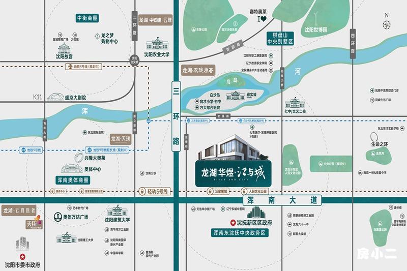 龙湖华煜·江与城区位图