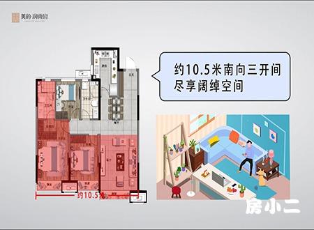 美的润东府120平精装高层动画版户型图解析